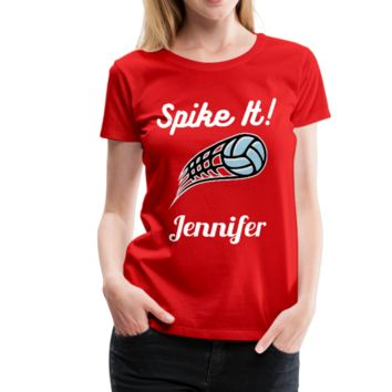 Spike It! Personalized Volleyball Women's Premium T-Shirt