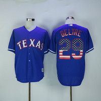Men's Texas Rangers 29 Adrian Beltre USA Flag Fashion Jersey stitched S-4XL