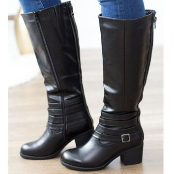 Supreme Riding Boot In Black Distressed By Corkys