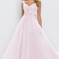 Floor Length Blush Gown