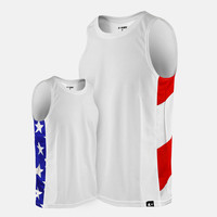 USA America Flag sleeveless quick-dry jersey