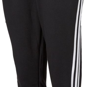 adidas Women's Essentials Cotton Fleece 3-Stripes Jogger Pants