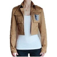Shingeki no Kyojin Attack on Titan Scouting Legion Khaki Cosplay Custom-Made Jacket - Cosmile