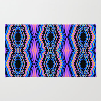 Psychedelic Tribe Area & Throw Rug by Lyle Hatch | Society6