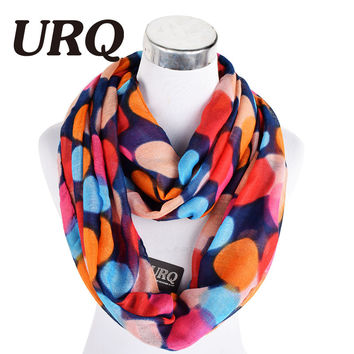 2016 Luxury Fashion Infinity Scarfs Winter Warm Polka Dot Woman Tube scarf Scarves Loop Scarf V8A9567