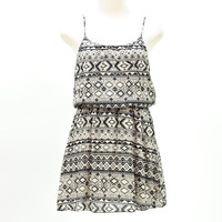 Tribal print cami tank spring mini dress