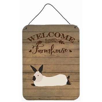 California White Rabbit Welcome Wall or Door Hanging Prints CK6911DS1216