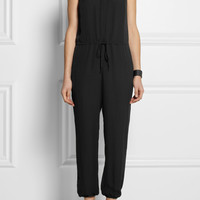 Theory | Silk-crepe jumpsuit | NET-A-PORTER.COM