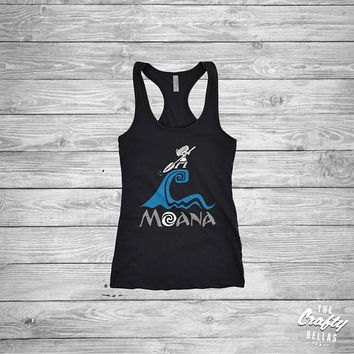 Moana Disney Princess (ALL GLITTER) shirt - Where You Are - Disney World - Disneyland - Ladies