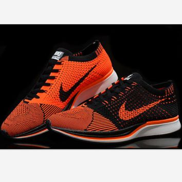 NIKE Women Men Running Sport Casual Suspension movement Shoes Sneakers Orange