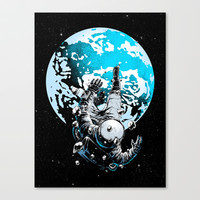 The Lost Astronaut  Canvas Print by Carbine