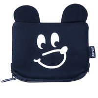 Lazy Oaf Bear Face Purse Black One