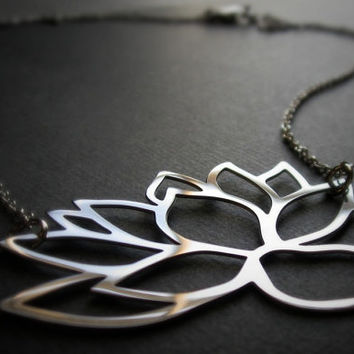 Lotus Blossom (brushed or mirrored finish, ready to ship)