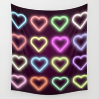 Neon Love Wall Tapestry by Dood_L