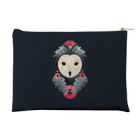 Owl Dark Background Pouch