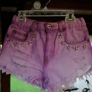 SALE-Starry Night Highwaisted Hipster Shorts