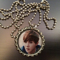 J-Hope BTS Kpop group fave bottlecap necklace