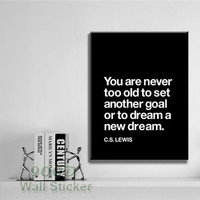 Modern Quote Canvas Art Print Painting Poster, Wall Pictures For Home Decoration Print On Canvas,  set of 1