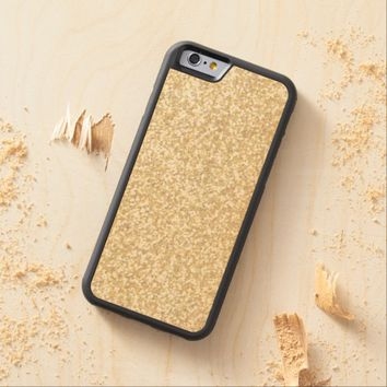 Cool Light Gold Glitter Carved® Maple iPhone 6 Bumper