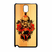 Star Wars Roses Tatto In Wood Samsung Galaxy Note 3 Case