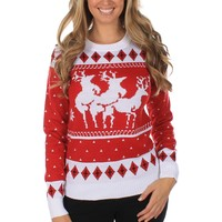 Reindeer Threesome Sweater | Tipsy Elves