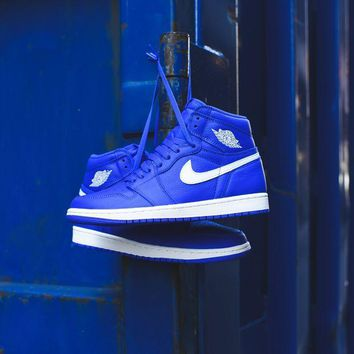 DCCK Nike Air Jordan 1 - Hyper Royal / Sail