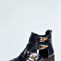 Sadie Clip Buckle Cut Out Boot