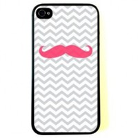Pink Mustache Case for iPhone 4/4S