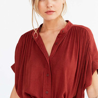 Ecote Annie Gauzy Button-Front Tunic Blouse - Urban Outfitters