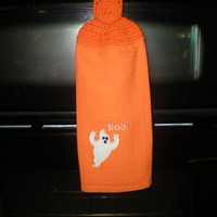 Halloween Kitchen Hanging Towel - Crochet Top