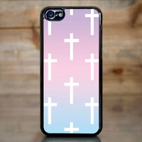 Ombre Pastel Crosses Case for Apple iPhone 5c
