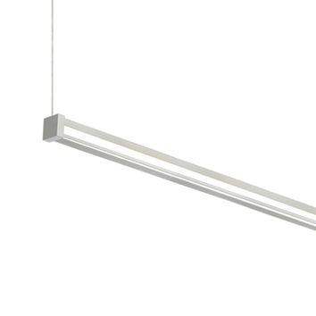Tech Lighting 700LSGIAR348CS-LED830 Gia Satin Nickel 48-Inch 1200 Lumens 80 CRI LED Linear Suspension Pendant with Clear Glass - (In Satin Nickel)
