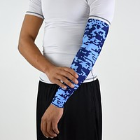 Pixel Navy and Blue arm sleeve