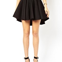 ASOS Volume Skater Skirt with Extreme Dip Back