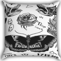 Harry Styles Tattoos Zippered Pillows  Covers 16x16, 18x18, 20x20 Inches