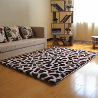 "Leopard Print  Plush Non-Slip Door Floor Baby Mat Water Absorption Rugs And Carpets For Living Room Bedroom Alfombras 47""x62"""