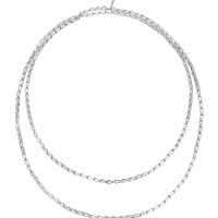 "Bamboo Silver Sautoir Long Necklace, 65"" - John Hardy"