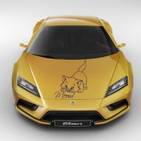 Car Hood Decals Vinyl Decal Sticker Art Mural Baby Animals Cute Pets Baby Kitten Head Meow Cat Design Kg875