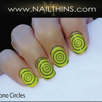 Hypno Circle Nail Decal Target Design Full Nail Wrap  NAILTHINS