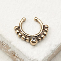 Rhinestone Clip-On Nose Ring