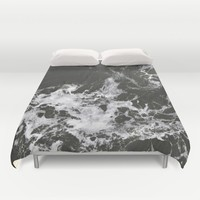 Black Water + Marble #society6 #decor #buyart Duvet Cover by 83oranges.com | Society6