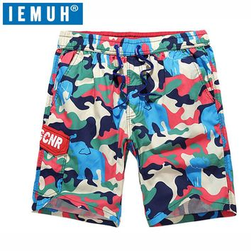 MENS 100% COTTON QUICK DRYING CAMO PRINT BOARD SHORTS
