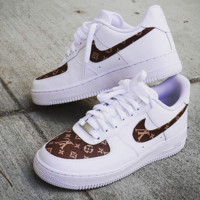 Louis Vuitton x Nike Air Force 1 Fashion Running Sport Casual Shoes Sneakers