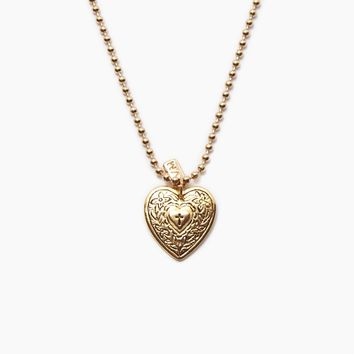The Angelica Heart Necklace - Gold