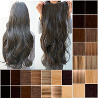 1 Pcs 3/4 full head clip in hair extensions high quality as Human hair pieces g5