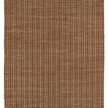 Diamond Boarder Rug in Jute + Felted Wool - Paprika