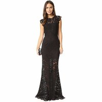 Womens Lace Womens Bandage Long Womens Dress