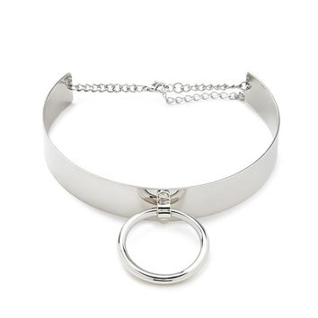 High-Shine Cutout Circle Choker