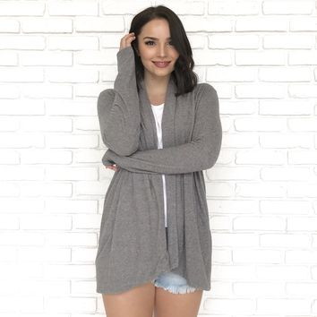 Soft and Cozy Grey Sweater