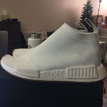 Brand New Adidas NMD CS1 PK City Sock White Gum 8.5